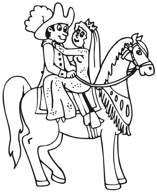 Coloriage de cheveaux la thironniere - Image de princesse a colorier ...